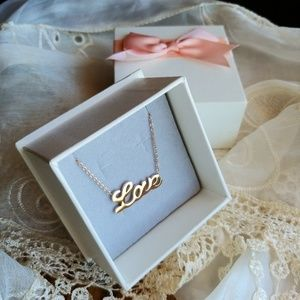 """Rose gold """"LOVE"""" necklace (New w/o Tags)"""